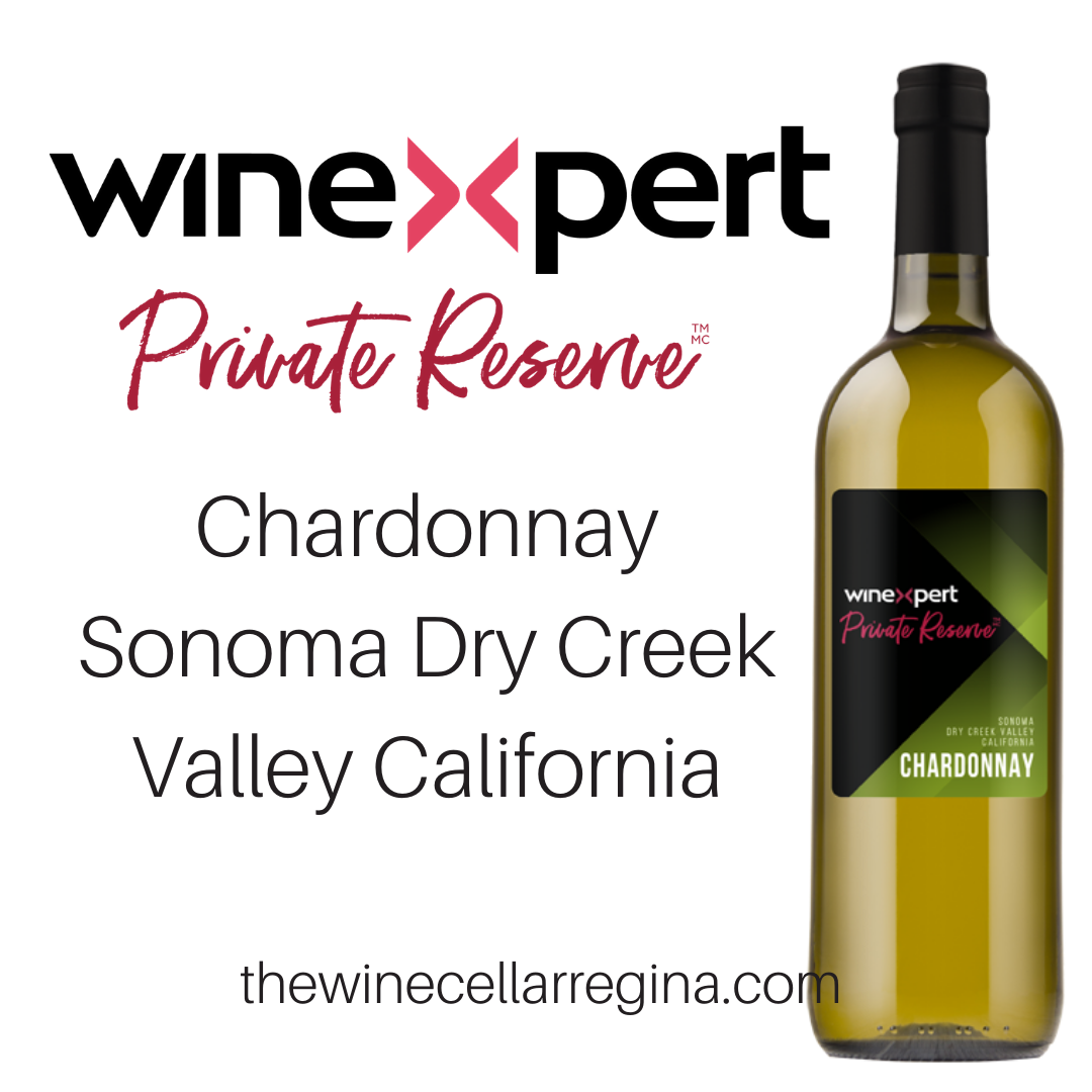 Private Reserve Chardonnay Sonoma Dry Creek Valley California Wine Kit.