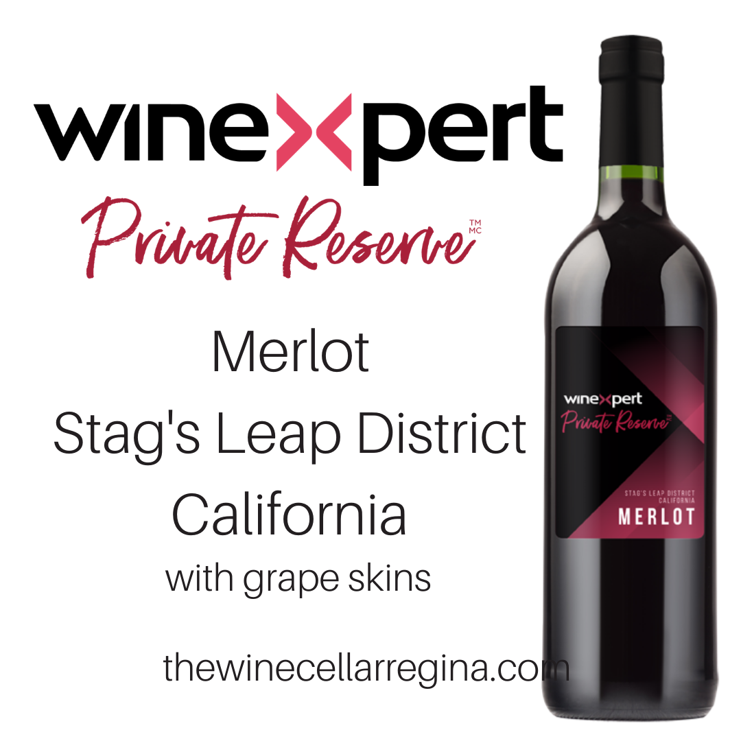 Private Reserve Merlot Stags Leap District California Wine Kit with grape skins.