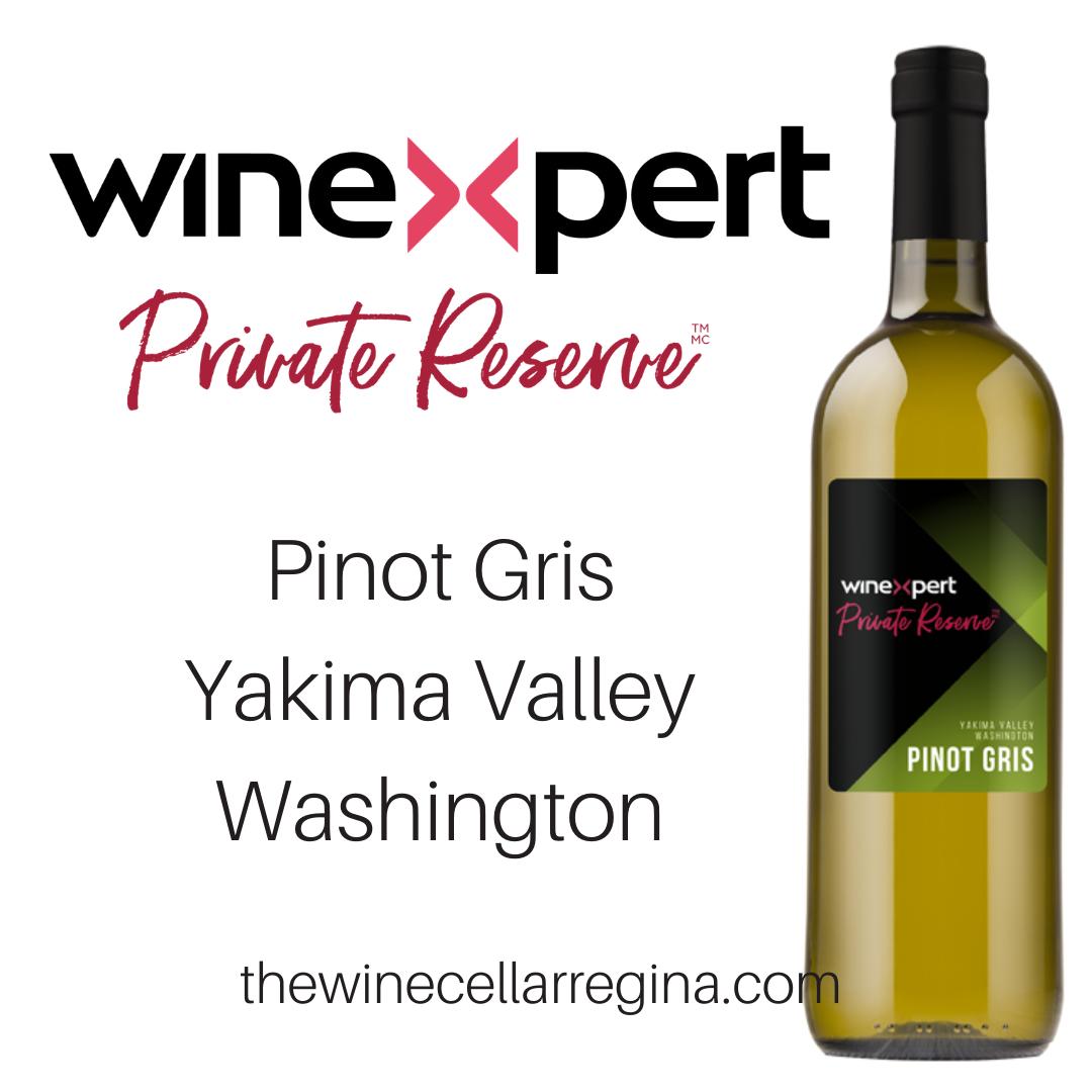 Private Reserve Pinot Gris Yakima Valley Washington Wine Kit.