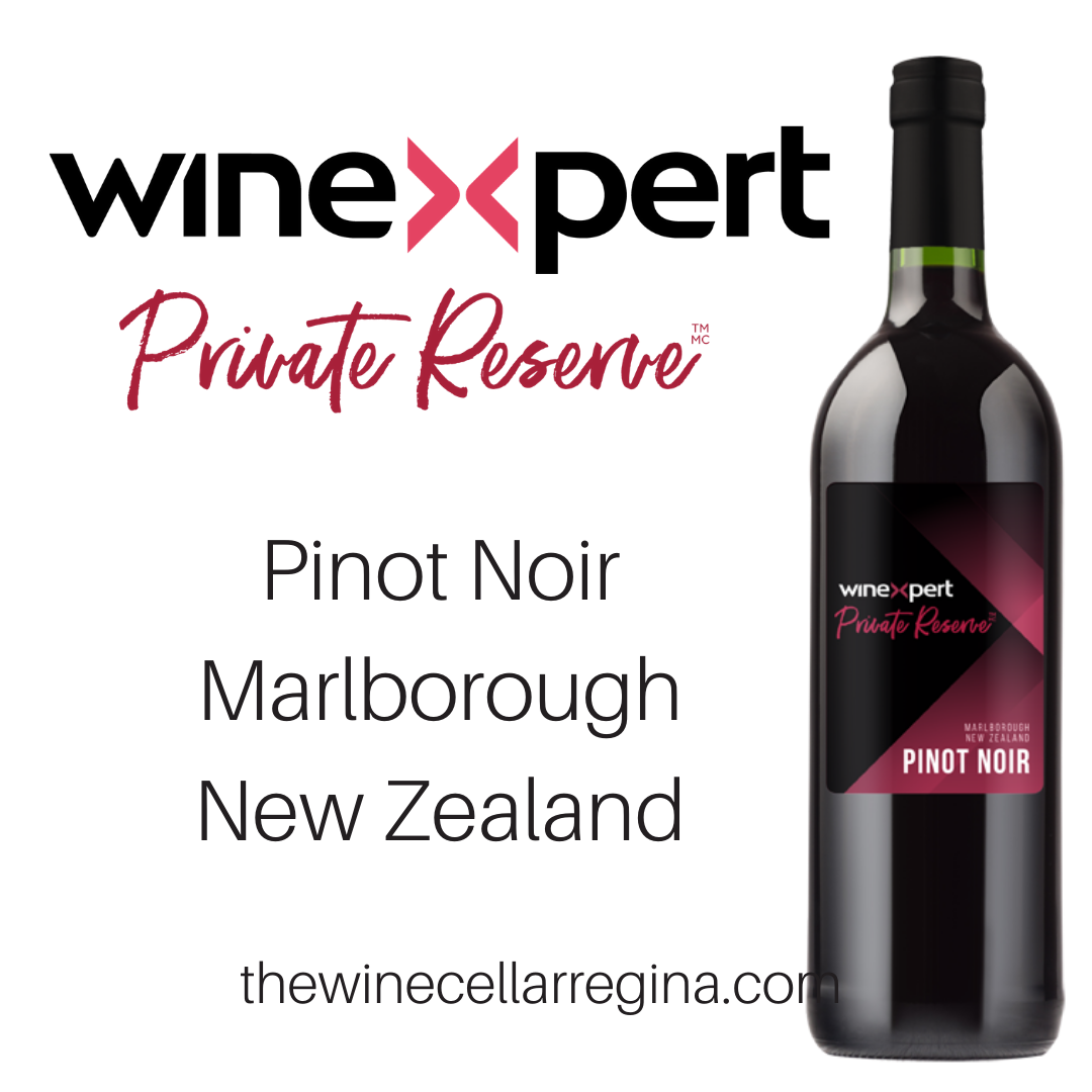 Private Reserve Pinot Noir Marlborough New Zealand Wine Kit.
