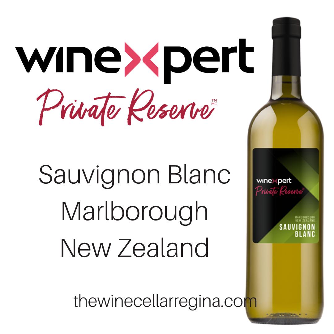 Private Reserve Sauvignon Blanc Marlborough New Zealand Wine Kit.