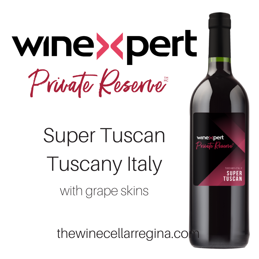 Private Reserve Super Tuscan Tuscany Italy Wine Kit.
