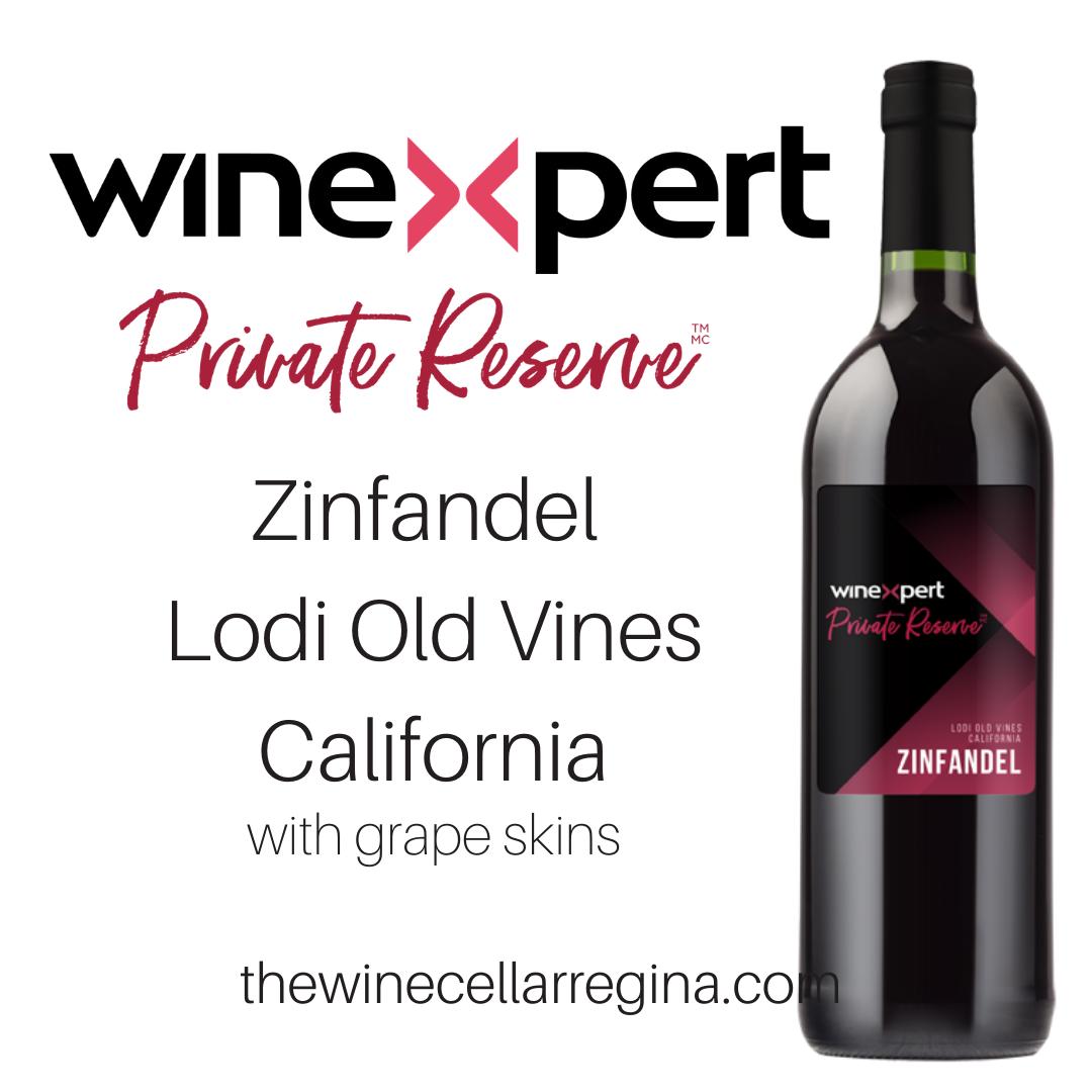 Private Reserve Zinfandel Lodi Old Vines California Wine Kit
