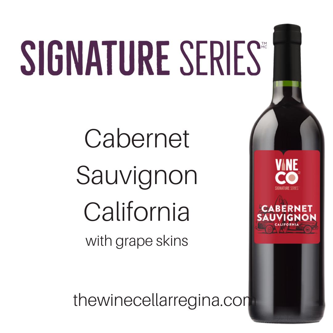 Signature Series Cabernet Sauvignon Wine Kit.
