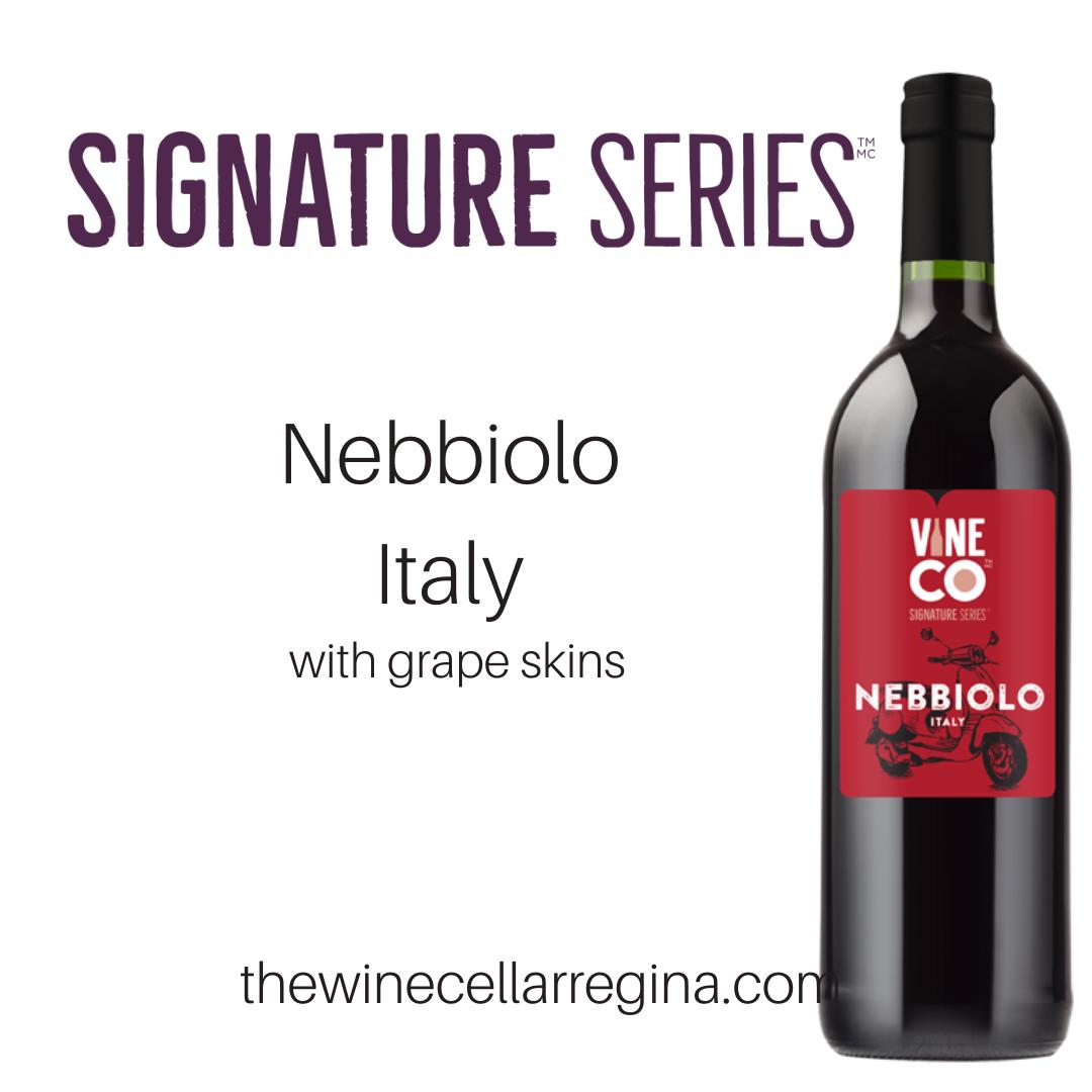 Signature Series Nebbiolo Italy Wine Kit.
