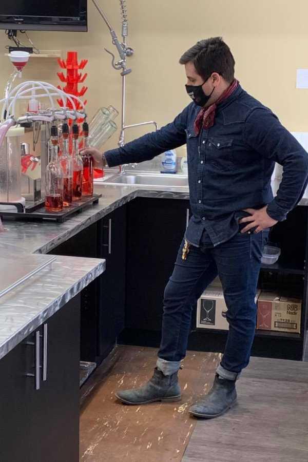 Cole Making Wine